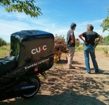 Cuïc fa els enviaments de les comandes de Diguesblat, amb 0 emissions de CO2